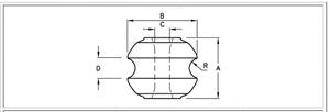McWade Product - INS3b - Reel Insulator Porcelain